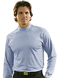 Mens Dry Swing Pique Mock Long Sleeve Shirt #1175