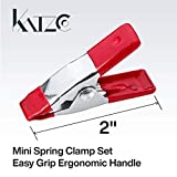 Katzco 2 Inch Mini Spring Clamp Set - 4 Pack - Easy