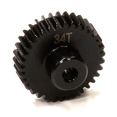 Integy RC Model Hop-ups T5005 Billet Machined 34T Steel Pinion Gear for HPI Savage XS - Spur Gear Hpi