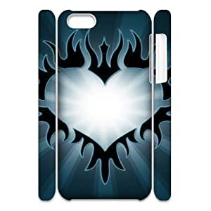 MEIMEIiphone 4/4s Case 3D, Digital Art Heart Case for iphone 4/4s white lmiphone 4/4s171957MEIMEI
