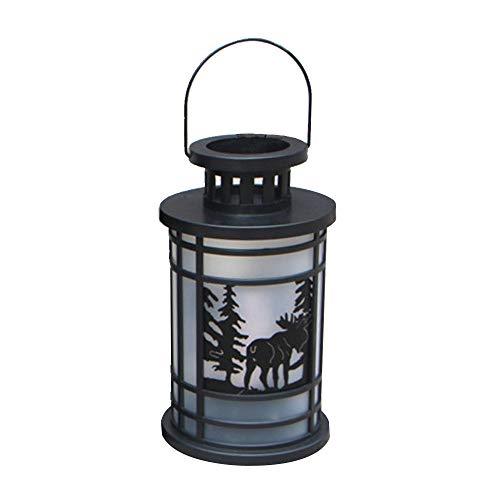 Exteren Hanging Lantern Flame Lamp Decor Light Vintage Party Castle Halloween Pumpkin Lighting Kit (C) -