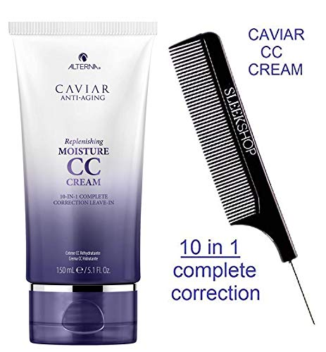 Alterna CAVIAR Anti-Aging Replenishing MOISTURE CC CREAM 10-in-1 Complete Correction Leave-In (STYLIST KIT) Leave In Conditioner (ORIGINAL - 5.1 oz / 150 ml)