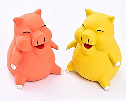 Pets Empire Top Cute Funny Pig Squeaky Soft Latex Chew Toys for Pets