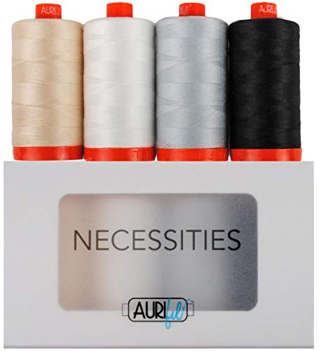 Necessities Aurifil Thread Kit 4 Large Spools 50 Weight ()