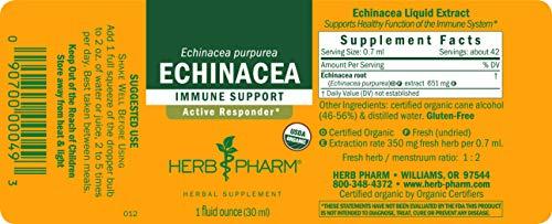 Herb Pharm Certified Organic Echinacea Root Liquid Extract