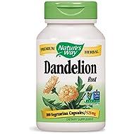 Nature's Way Dandelion Root, 100 Capsules (Pack of 2)