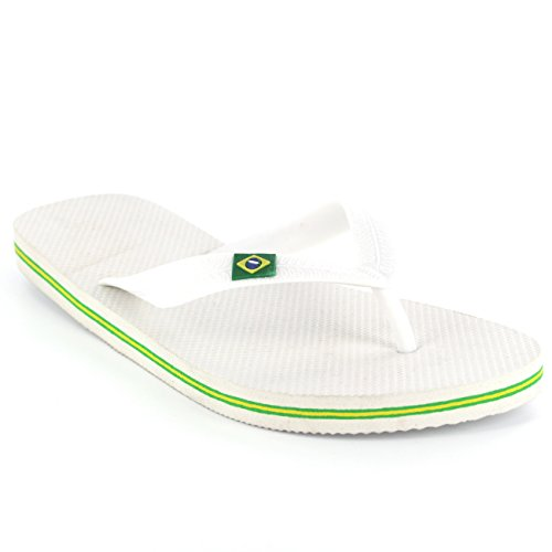 Chanclas Playa Mujer Brasil Fiesta Brazil Sandalias Blanco Zapatos Logo Verano pfnaA68f