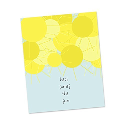 Here Comes The Sun | The Beatles 8×10″ song lyric art print