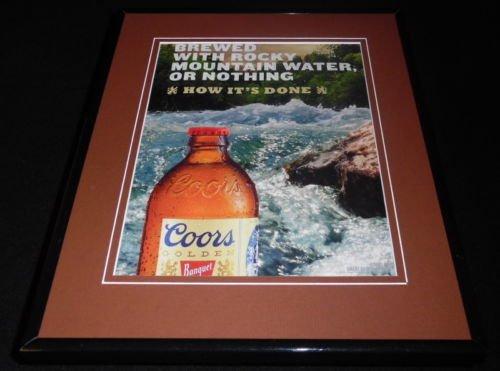 2016 Coors Golden Banquet Beer 11x14 Framed ORIGINAL -
