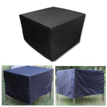 Alfresco Article Furniture Underwrite - 123x123x74cm Outdoor 4 Waterproof Furniture Table Cover Garden Patio Yard - Masking Covering Natural Book Binding Outside Hide Cut - 1PCs by Unknown