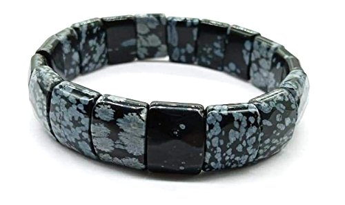 Buy Crystal Cave Snowflake Obsidian Natural Stone Bracelet 15 Mm For