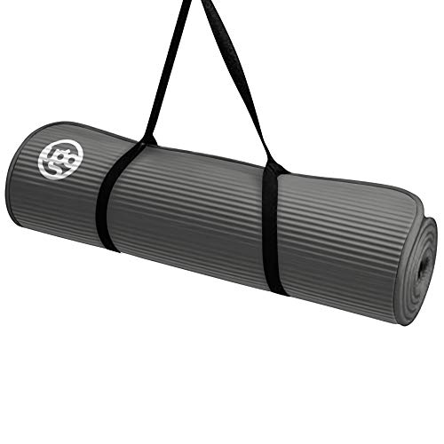 Ugo 10MM NBR Yoga Fitness Exercise MAT with Piping - Gray