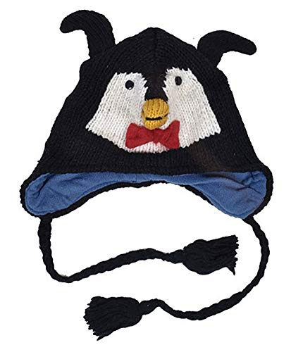 (Best Penguin Wool Knitted Animal Hat Fleece Lined Ocean Zoo Seal Anime Organic Stuffed Beanies Easter Basket Stuffer Sale Gift Idea Under 20 Dollar for Young Women Men Teen Boys)