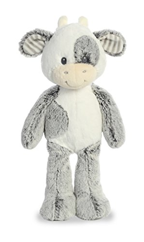 White Plush Cow - Aurora World Baby Cuddler Plush Animal Coby Cow Medium Toy, Black & White