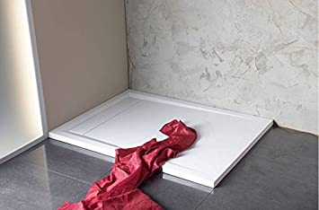 Shower Tray with Groove 120 x 80 Shower Tray 120 x 80 cm and Odour ... | {Duschbadewanne 76}
