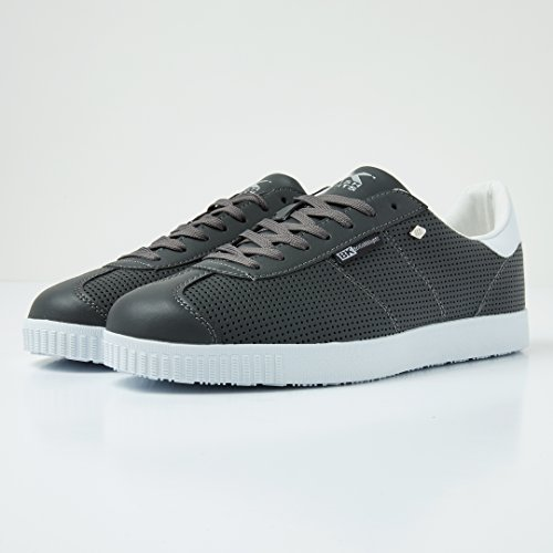Sneaker Hvit Knights top Lav Dk Grå Peke British Menns TXng8Wzqq