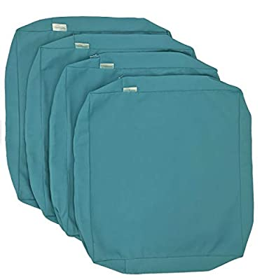 CozyLounge Indoor Outdoor Water Repellent High UV Resistant Patio Chair Cushion Cover