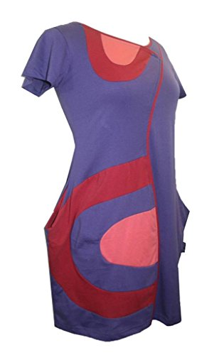 Patched RD Designer Dress Purple Assymetrical Agan Style Misses Junior Traders 798 tY7wd1qY