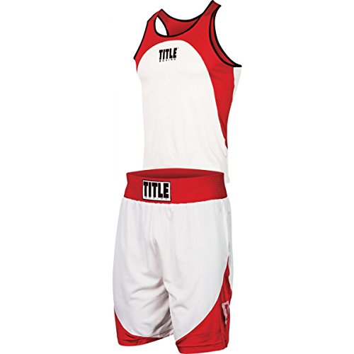 Title Boxing Aerovent Elite Amateur Boxing Set 1, Red/White, Large