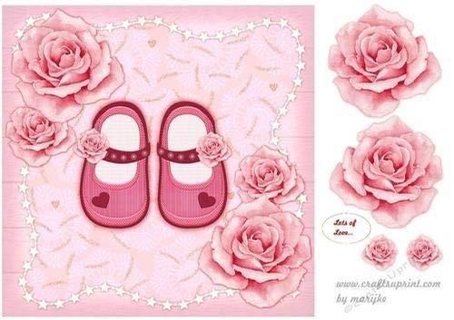 Par Marijke Carte Rapide Une Chaussures Pour Cute Avec Fille Kok Petite Roses nzvfnU