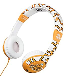Mr. Men Junior Headphones Mr. TIckle (Orange)