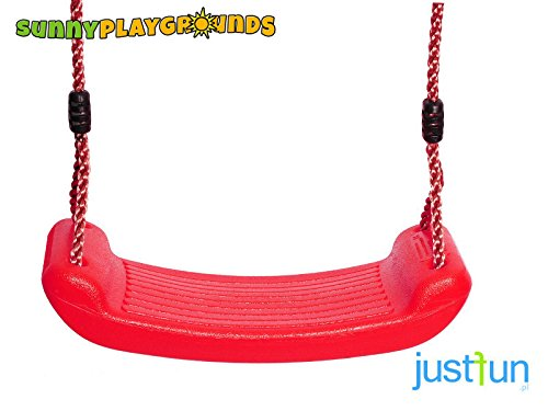 SWING SEAT RED with FREE ROPE-Outdoor and Indoor Playground Set Accessories for (Molded Swing Seat)