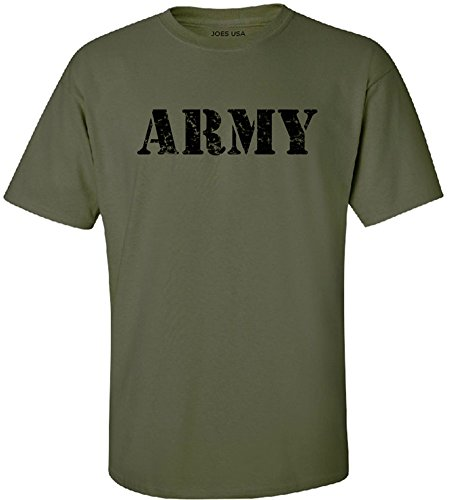 Joe's USA - Military Green Vintage Army Logo T-Shirts in Sizes S