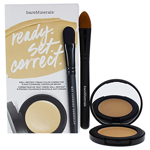 (bareMinerals Ready Set Correct Well-rested Cream & Brush, 2 Count )