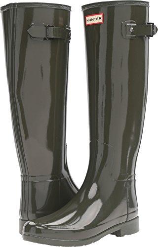 Hunter Women's Original Refined Gloss Rain Boots Dark Olive 11 M US by Hunter