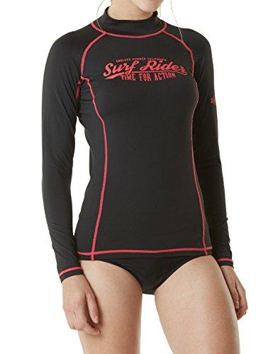 Price comparison product image TM-FSR20-KKF_Large Tesla Women's UPF 50+ Slim-Fit Long Sleeve Athletic Rashguard FSR20