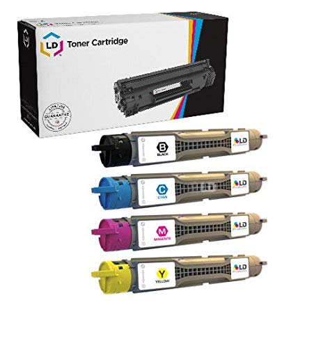 (LD Compatible Toner Cartridge Replacements for Xerox Phaser 6300 (Black, Cyan, Magenta, Yellow, 4-Pack))