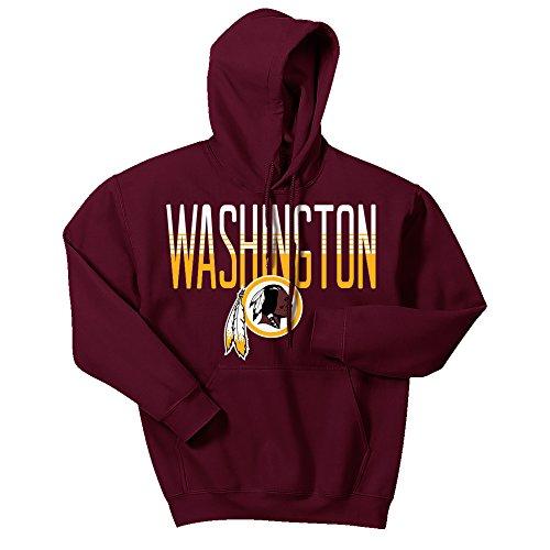 (Zubaz NFL Washington Redskins Men's Gradient Logo Hoodie, XX-Large, Maroon)
