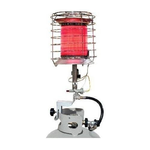 0 DuraHeat 360 Degree Propane Tank Top Heater - Infrared - Gas - Silver - Portable ()