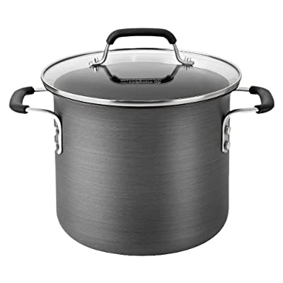 Calphalon 6 Quart Hard Anodized Stock Pot - Black