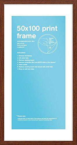 GB eye FMPDQA1WN 50 X 100cm Wooden Poster Frame (Walnut) GB eye Ltd