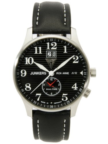 Junkers Iron Annie Big Date, Dual Time Watch 6640-2