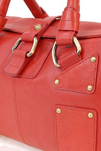 Ledertragetasche Claudia von Catwalk Collection - Größe: B: 30 H: 18 T: 15 cm Rot