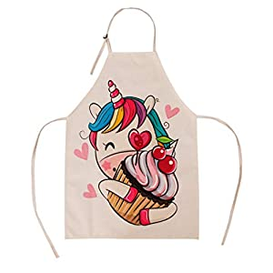 Unique Aprons Unicorn Apron Cupcake Childrens Apron For Gardening Kitchen Cooking And Baking Chef Activity Small Size For 3 8 Year Old Kids Girl And Boy Mommy And Me