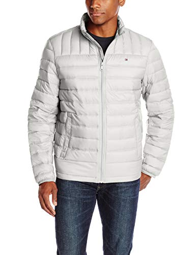 (Tommy Hilfiger Men's Packable Down Jacket (Regular and Big & Tall Sizes), Ice, X-Large)