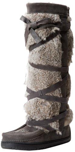 Manitobah Mukluks Womens Tallwrap Vibram Knee-High Boot Charcoal GdrPd2