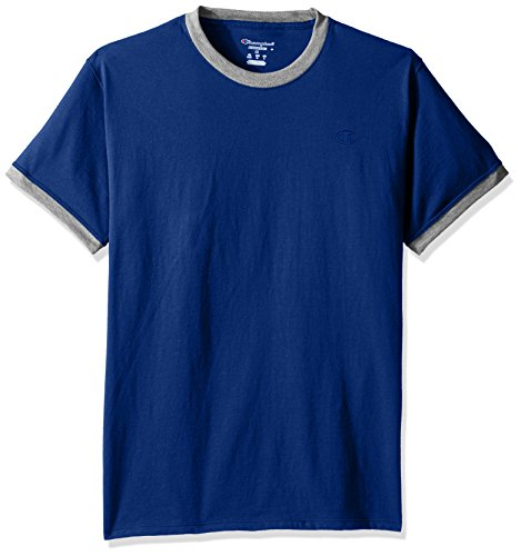 Champion Men's Classic Jersey Ringer Tee, Surf the Web/Oxford Gray Heather, 2XL from Champion