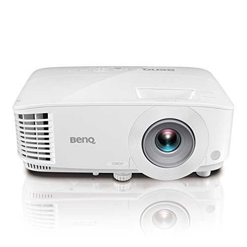 "BenQ 1080p DLP Business Projector (MH733), 4000 Lumens, Full HD 1920x1080, Wireless, Network, 3D, HDMI, USB Reader, 10W Speaker, LAN Control, 100""@8.2ft, 1.3x Zoom by BenQ"