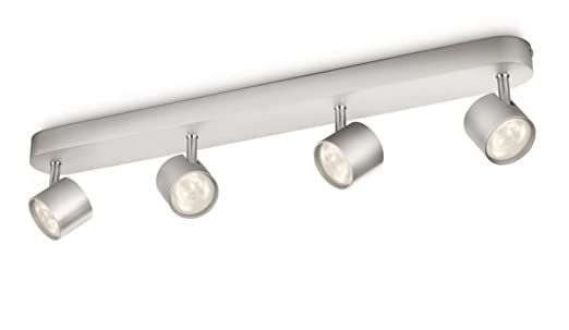 Philips myliving star 4 bar spotlight ceiling light integrated 4 philips myliving star 4 bar spotlight ceiling light integrated 4 x 3 w led bulb aloadofball Image collections