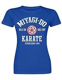 Karate Kid T Shirt Miyagi-Do Karate 1984 new Official Womens Skinny Fit Blue