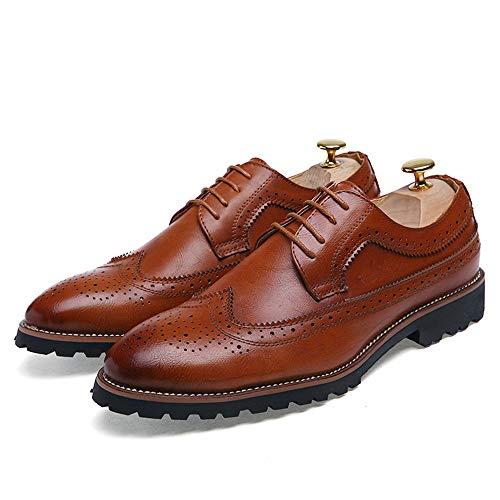 de Negro Hombre Zapatos EU Color tamaño Cordones Color Fang Zapatos de shoes de 2018 38 Plano Marrón los Zapatos talón Ocio Hombres Oxfords sólido con tqwRwaE