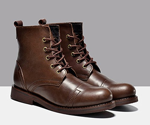Insun Coffee Boots Genuine Insun Mens Oxford Moto Mens Leather 8ar0nW81