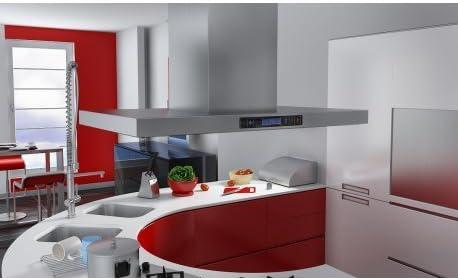 Campana extractora de cocina de acero inoxidable para isla de cocina: Amazon.es: Grandes electrodomésticos