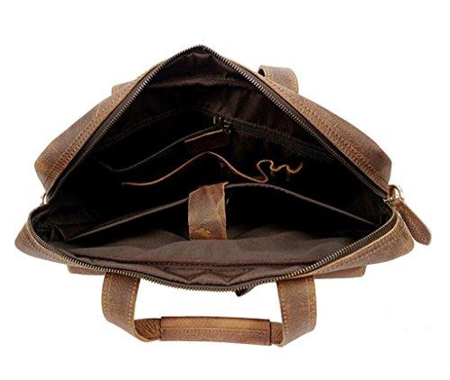 color tracolla resistente Borsa litchi wax e oil pelle shopping a borsa vintage in uomo borsa SHOUTIBAO lavoro indossabile valigetta messenger H1SqwZfS