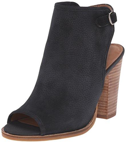 Lucky Women's Lisza Peep Toe Heel, Black, 9.5 M US