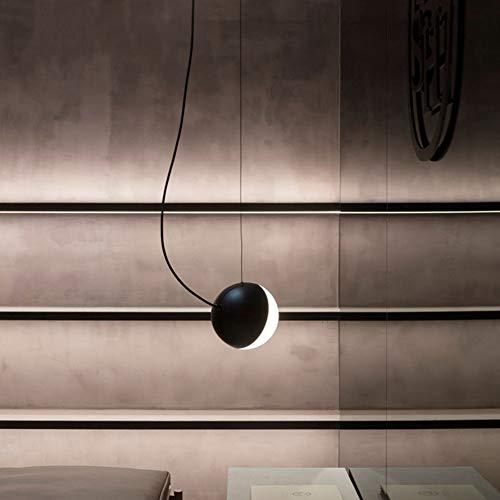 Europe du Nord Moderne Pendentif Lumières Noir Fer Art Salon Restaurant Abat-Jour En Verre 1- Flammig E14 Plafonnier Lampe Bar Café Boule De Verre Creative Magic Beans Lustre